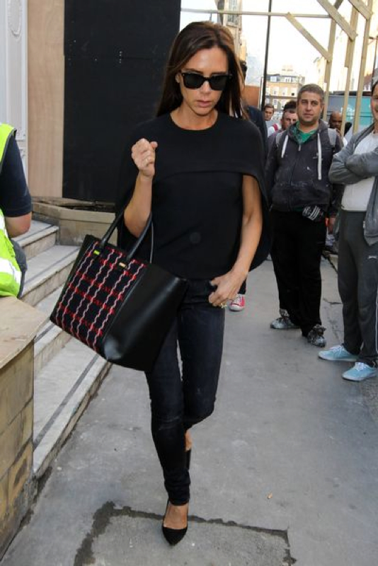 Victoria Beckham Spotted In London Fashion 90210